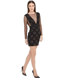Emanuel Ungaro | Polka Dot Mesh Wool Twill Dress