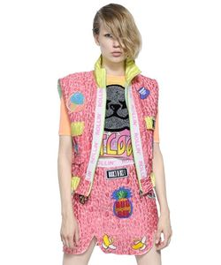 Maid In Love | Patches On Techno Blend Brocade Vest