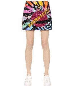 Maid In Love | Eva Embellished Jersey Felt Skirt