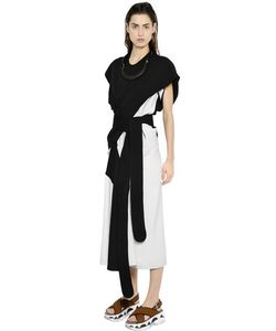 Marni | Asymmetrical Two Tone Silk Tussah Dress