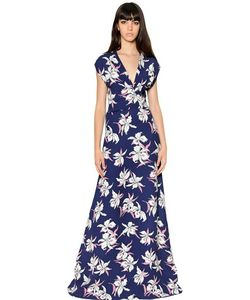 Marni | Floral Printed Silk Cady Dress