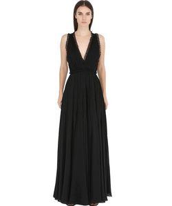 Philosophy di Lorenzo Serafini | Silk Georgette Point Desprit Dress