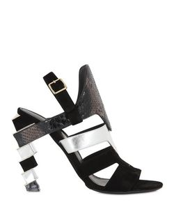 Salvatore Ferragamo | 105mm Laos Suede Python Sandals
