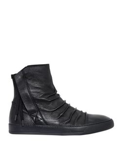 Alexandre Plokhov | Wrinkled Leather High Top Sneakers