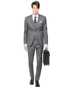 Brioni | Bracciano Wool/Silk 3 Pieces Check Suit