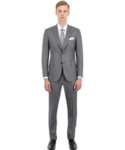 Brioni | Wool And Silk Chevron Herringbone Suit