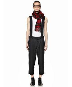 Comme Des Garçons   Serge Wool Pants With Suspender