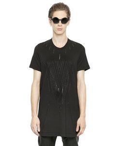 Julius | Printed Cotton Blend Jersey T-Shirt