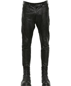 Julius | Nappa Leather Cotton Drill Pants