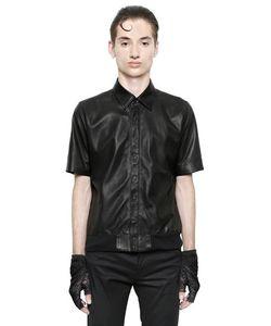 Christian Dada   Nappa Leather Short Sleeve Shirt