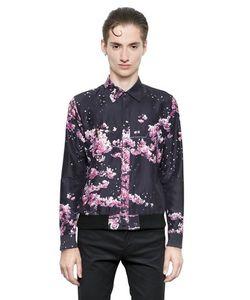 Christian Dada   Printed Cotton Silk Blend Shirt