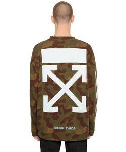 Off-White | Arrows Camo Printed Cotton Sweatshirt