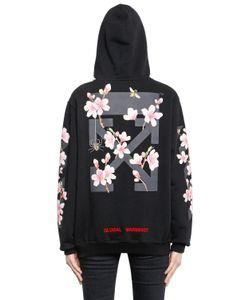 Off-White | Cherry Blossom Hooded Cotton Sweatshirt