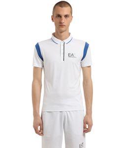 EA7 Emporio Armani | Logo Nylon Tennis Polo Shirt