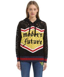 Gucci | Sequin Cotton Blend Lace Sweatshirt
