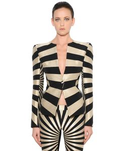 Gareth Pugh | Single Breasted Graphic Jacquard Jacket