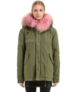 Mr & Mrs Italy | Cotton Canvas Jacket With Murmansky Fur