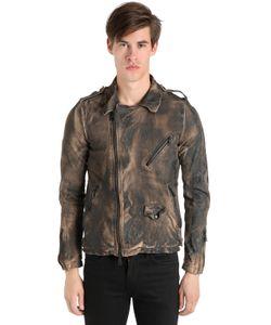 Giorgio Brato | Vintage Effect Washed Leather Jacket