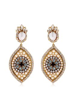 Shourouk | Eye Crystal Pearl Earrings
