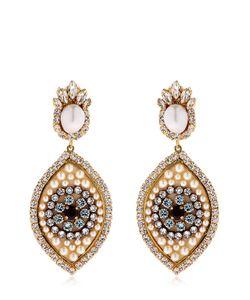 Shourouk | Eye Crystal Pearl Earrings