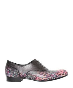 Mihara Yasuhiro | Printed Leather Oxford Lace-Up Shoes