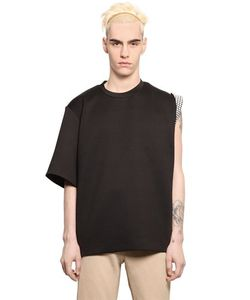 Xander Zhou | Neoprene Blend One Sleeve T-Shirt
