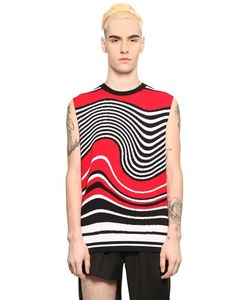 Xander Zhou | Intarsia Wave Viscose Blend Sweater