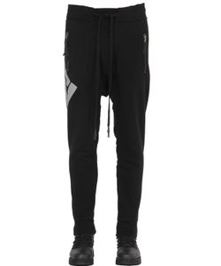 11 By Boris Bidjan Saberi | Printed Patched Cotton Jogging Pants