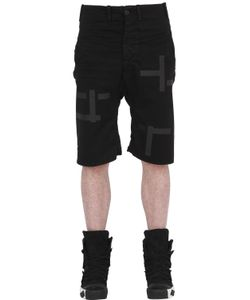 11 By Boris Bidjan Saberi | Printed Stretch Canvas Bermuda Shorts