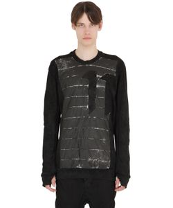 11 By Boris Bidjan Saberi | Printed Insert On Cotton Sweatshirt
