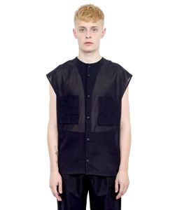 Alexandre Plokhov | Cotton Gauze Sleeveless Shirt