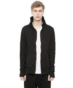 Alexandre Plokhov   Hooded Zip-Up Bonded Jersey Sweatshirt