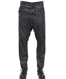 Alexandre Plokhov | Waxed Cotton Bemberg Long Drop Trousers