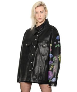 Alyx | Oversized Floral Printed Leather Jacket