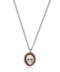 Amedeo | Skull Cameo Necklace