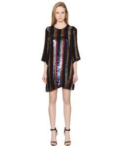 Amen | Striped Sequin Chiffon Dress