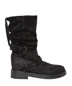 Ann Demeulemeester | 30mm Double Buckle Suede Pull On Boots
