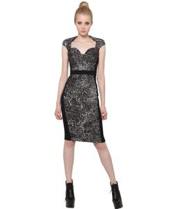 Antonio Berardi | Silk Jacquard And Techno Cady Dress
