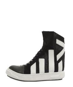 Artselab   Ponyskin Leather High Top Sneakers
