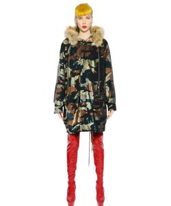 Ashish | Camouflage Sequined Faux Fur Parka