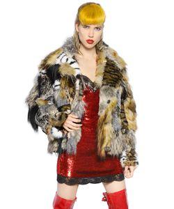 Ashish | Faux Fur Patchwork Jacekt