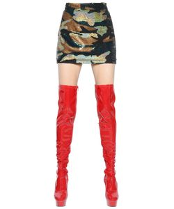 Ashish | Camouflage Sequined Silk Georgette Skirt
