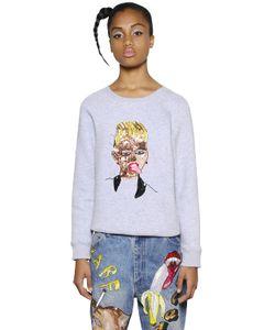 Ashish | Embellished Zip-Up Cotton Sweatshirt