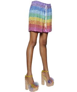 Ashish | Sequined Silk Georgette Shorts