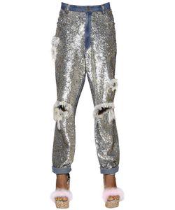 Ashish | Sequined Fringed Cotton Pants
