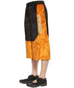 Astrid Andersen | Color Block Cotton Velour Shorts