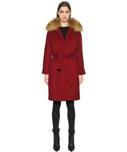 Ava Adore | Cashmere Blend Coat With Murmansky Fur