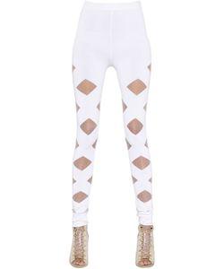 Balmain | Cutouts Stretch Viscose Knit Leggings