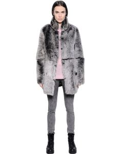 Blk Dnm | Coat 18 In Reversible Shearling
