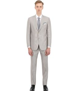 Brioni | Wool Blend Micro-Striped Slim Fit Suit